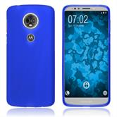 Silikon Hülle Moto E5 Plus matt blau Case