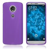 Silicone Case Moto E5 Plus matt purple Case