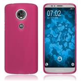 Silikon Hülle Moto E5 Plus matt pink Case