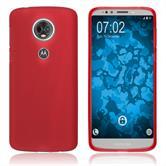 Silikon Hülle Moto E5 Plus matt rot Case