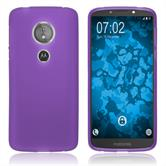 Silicone Case Moto E5 (5th Gen) matt purple Case