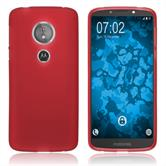 Silicone Case Moto E5 (5th Gen) matt red Case