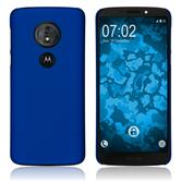 Hardcase Moto G6 Play rubberized blue Cover