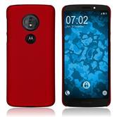Hardcase Moto G6 Play gummiert rot Cover