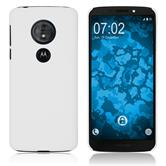 Hardcase Moto G6 Play rubberized white Cover