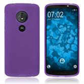 Silicone Case Moto G6 Play matt purple Case