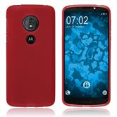 Silicone Case Moto G6 Play matt red Case