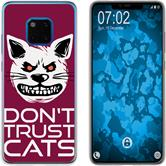 Huawei Mate 20 Pro Silicone Case Crazy Animals M1