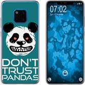 Huawei Mate 20 Pro Silicone Case Crazy Animals Panda M2