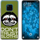 Huawei Mate 20 Pro Silicone Case Crazy Animals sloth M3