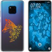 Huawei Mate 20 Pro Silicone Case floral Fox M1-2