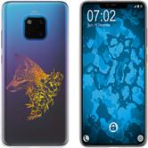 Huawei Mate 20 Pro Silicone Case floral Fox M1-3