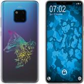 Huawei Mate 20 Pro Silicone Case floral Fox M1-4