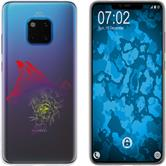 Huawei Mate 20 Pro Silicone Case floral Fox M1-5