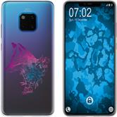 Huawei Mate 20 Pro Silicone Case floral Fox M1-6