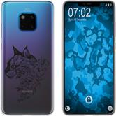 Huawei Mate 20 Pro Silicone Case floral M2-1
