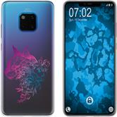 Huawei Mate 20 Pro Silicone Case floral M2-6