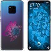 Huawei Mate 20 Pro Funda de silicona floral M3-6