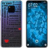 Huawei Mate 20 Pro Silicone Case in Love M4
