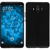 Silicone Case Mate 10 leather optics black Case