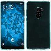Silikon Hülle Mi Mix 2 transparent türkis Case