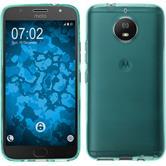 Silicone Case Moto G5s transparent turquoise Case