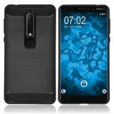 Silikon Hülle Nokia 6.1 (2018) Ultimate schwarz Case