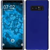 Hardcase Galaxy Note 8 rubberized blue + Flexible protective film