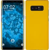 Hardcase Galaxy Note 8 rubberized yellow + Flexible protective film