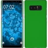 Hardcase Galaxy Note 8 rubberized green + Flexible protective film