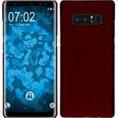Hardcase Galaxy Note 8 rubberized red + Flexible protective film