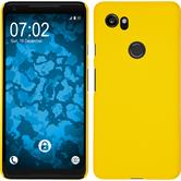 Hardcase Pixel 2 XL rubberized yellow Case