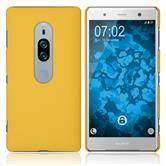 Funda Rígida Xperia XZ2 Premium goma amarillo Case