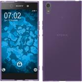 Silicone Case Xperia XA1 Ultra transparent purple + protective foils