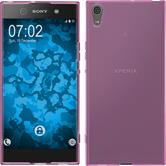Silicone Case Xperia XA1 Ultra transparent pink + protective foils