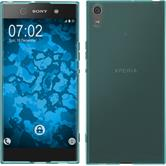 Silicone Case Xperia XA1 Ultra transparent turquoise + protective foils
