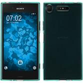 Silicone Case Xperia XZ1 transparent turquoise Case