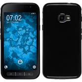 Silicone Case Galaxy Xcover 4  black + protective foils