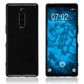 Silicone Case Xperia XZ4 transparent black Cover