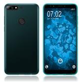 Silicone Case Y7 Prime (2018) transparent turquoise Case
