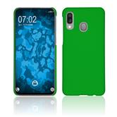Hardcase Galaxy A40 rubberized green + protective foils