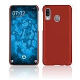 Silicone Case Galaxy A40 rubberized red + protective foils
