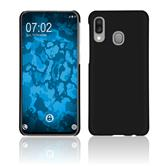 Hardcase Galaxy A40 rubberized black + protective foils