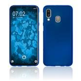 Silicone Case Galaxy A40 matt blue Cover
