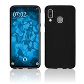 Silicone Case Galaxy A40 matt black Cover