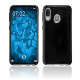 Silicone Case Galaxy A40 transparent black Cover