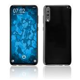 Silicone Case Galaxy A70 transparent black Cover