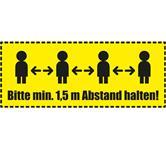 1x Fußboden Warnaufkleber - 50x20 cm