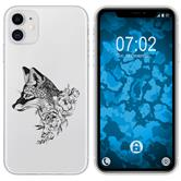 Apple iPhone 11 Silicone Case floral Fox M1-1