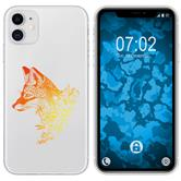 Apple iPhone 11 Silicone Case floral Fox M1-2